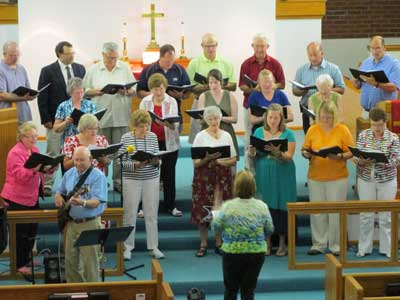 Zion United Methodist Choir performing